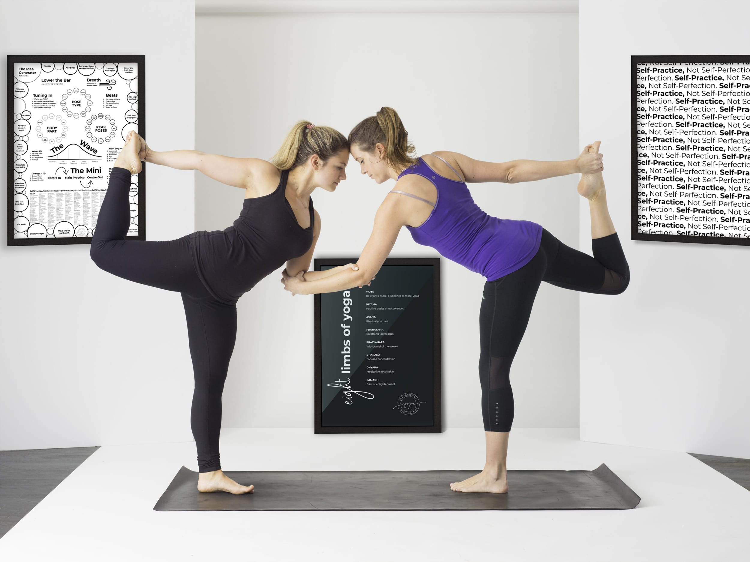 Yoga Posters - limbs, tools, mantra