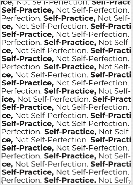 The Yoga Self-Practice Mantra Poster